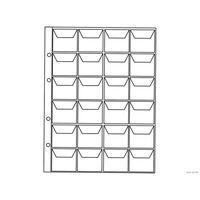Лист для хранения монет  200х250 мм на 24 ячейки, ячейка 40*40 мм