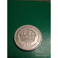 Австралия 1 крона 1937 г. Серебро 925 пр.
