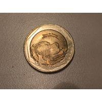 Колумбия 500 песо 2016 г. Лягушка UNC