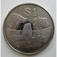 Зимбабве. 1 доллар 2002 год. КМ#6a