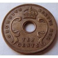 Британская Восточная Африка 10 центов 1951 г