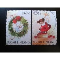 Финляндия 2009 Рождество полная серия Mi-2,4 евро гаш.