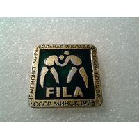 Значок. Чемпионат мира по вольной и классической борьбе.Минск-1975