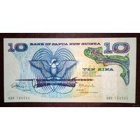 """РАСПРОДАЖА С 1 РУБЛЯ!!! Папуа-Новая Гвинея 10 кин 1985-87 года UNC """"Нечастая"""""""