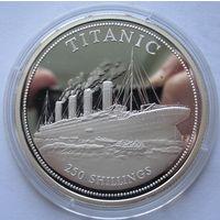 Сомали 250 шиллингов 1999 Титаник - серебро 0,925
