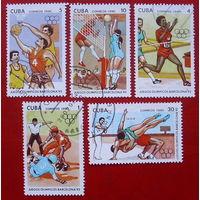 Куба. Спорт. ( 5 марок ) 1990 года.