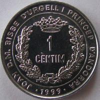 Андорра 1 сантим 1999 КМ#171 ФАО