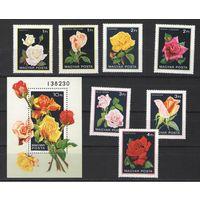 Почтовые марки Венгрии 1982г. (флора)