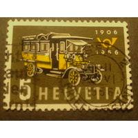 Швейцария. 1956г. Почтовый автобус.
