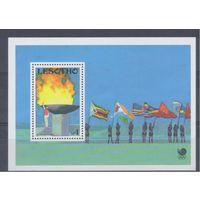 [131] Лесото 1988.Спорт.Олимпиада.Олимпийский огонь.  БЛОК.