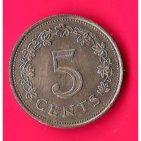 23-03 Мальта, 5 центов 1972 г.