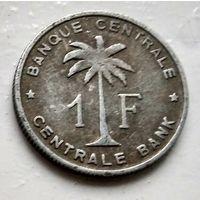 Бельгийское Конго (Руанда-Урунди) 1 франк, 1959  2-2-1