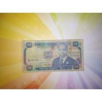Кения 20 шиллингов 1991г