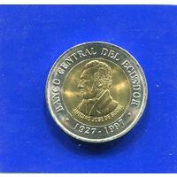 Эквадор 100 сукре 1997 , биметалл, UNC