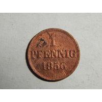 Ганновер 1 пфенниг 1856г