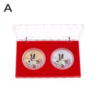 Монеты Китайский календарь. год собаки. комплект 2 шт. в коробочке. распродажа