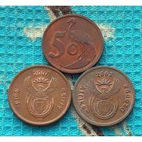 ЮАР 5 центов 1992 года, UNC. Новогодняя распродажа!!!