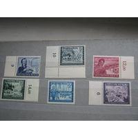 Марки - Германия, Третий Рейх, Немецкое почтовое сообщение выпуск 1944 г., полная серия, марки с полем