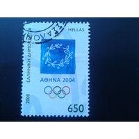 Греция 2000 эмблема олимпиады-2004 Mi-4,0 евро гаш.