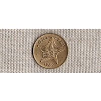 Багамские острова /багамы/ 1 цент 1969 /Фауна/ //(Sx)