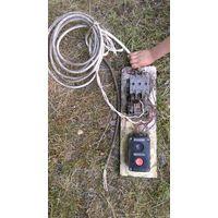 Электромагнитный пускатель с тепловым реле, управляемый кнопочным постом