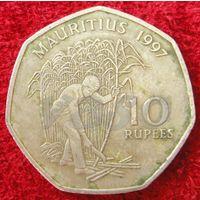 7349:  10 рупий 1997 Маврикий