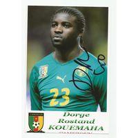 Dorge Rostand Kouemaha(Камерун). Фотография с живым автографом.