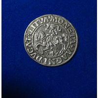 Полугрош 1547, Жигимонт Август, Вильно. Окончания легенд: Ав - LI, Рв - LITVA.  Штемпельный блеск , коллекционное состояние.