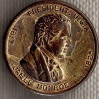 Памятная жетон-монета / Джеймс Монро / Пятый Президент США / Пластик