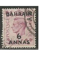 Бахрейн. Король Георг VI. Надпечатка на #206 Британии. 1948г. Mi#65.