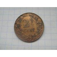 Нидерланды 2 1/2 цента 1903г.km134