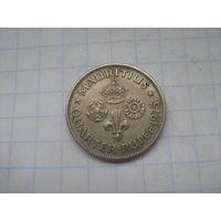 Маврикий Брит. 1/4 рупии 1975г.km36