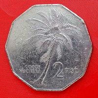 34-08 Филиппины, 2 песо 1984 г. Единственное предложение монеты данного года на АУ