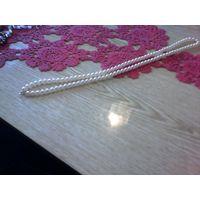Длинное ожерелье жемчуг винтаж Чехословакия