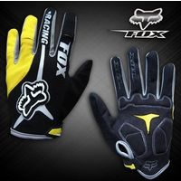 Велосипедные перчатки Fox длинные (синие, серые, красные, желтые)
