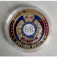 Монетовидный жетон 40 мм.ROYAL ENGINEERS