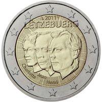 2 евро 2011 Люксембург Три портрета UNC из ролла