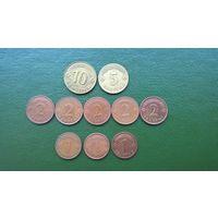 10 монет ЛАТВИИ разные
