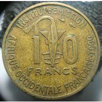 Французская Западная Африка (Того) 10 франков 1957г