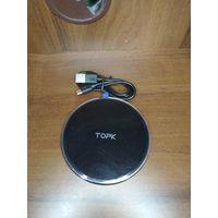 Беспроводное зарядное устройство TOPK B02W 10 Вт, светодиодное , универсальное . Подходит для телефона Samsung S10 S9 S8 Xiaomi Mi9