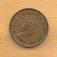 Джерси 1/4 шиллинга (четверть) 1957 / Королева