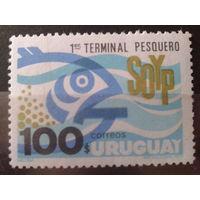 Уругвай 1973 рыба, одиночка