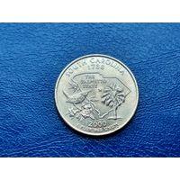 США. 25 центов (квотер, 1/4 доллара) 2000 D. Южная Каролина. (2).