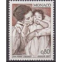 Монако 1977 живопись, охрана материнства, картина Мари Кассат **