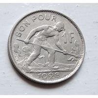 Люксембург 1 франк, 1928 3-10-24
