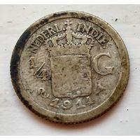Голландская Ост-Индия 1/4 гульдена, 1914 1-7-46