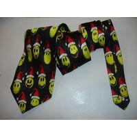 Мужской галстук Смайлики