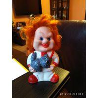 Детская игрушка из резины кукла клоун Куклачов СССР.