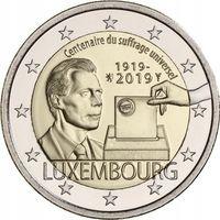 2 евро 2019 Люксембург Универсальное Избирательное право UNC из ролла