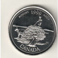 Канада 25 цент 1999 Август